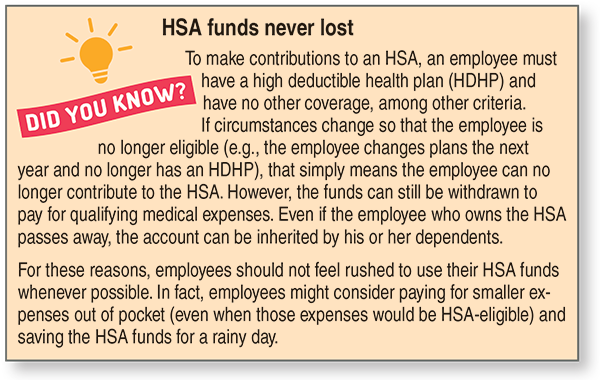 HSA funds never lost