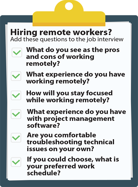 Hiring remote workers? Add these questions to the job interview.