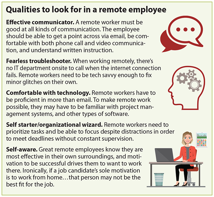Qualities to look for in a remote employee
